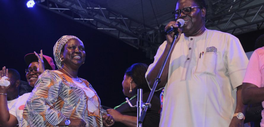 Watch Juju Legend, Ebenezer Obey's Performance at One Lagos Fiesta 2016